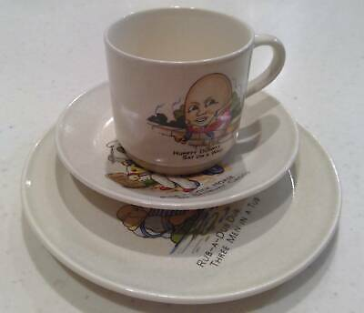 Johnson Of Australia Vintage Childs 3 Piece Cup Saucer & Plate Set