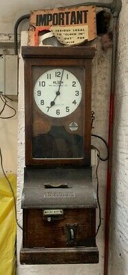 Antique Clocking in and Card-stamping Machine
