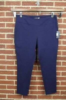 NEW Tommy Hilfiger Womens Pants Plus Size 18W Navy Blue Slim Leg NWT Pull On