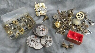 A Good Selection Of Clock Parts And Tools From A Clock Maker