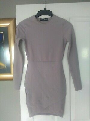 Pretty little thing bodycon dress size 8 dusty pink