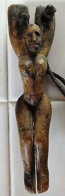 Antique Guatemalan Slingshot: Carved wood, Amulet, South American, Weapon, Relic