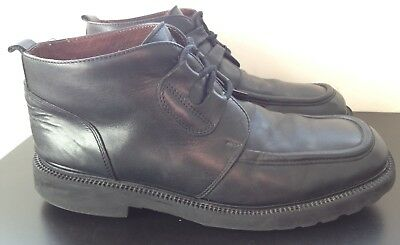 Next Italy Black Leather Ankle Chukka Boots Formal Smart Men's UK 11 (EU 46)