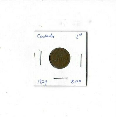 Canada I Cent Coin  1924.Free Shipping..Closing Shop..Must Sell ALL ITEMS OPEN T