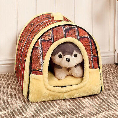 Soft Pet Dog Cat Bed House Warm Mat Puppy Bedding Igloo Basket Kennel Washable