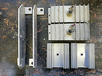 JOB LOT SIX Aluminium Heat Sinks With Thyristors and Diodes Extruded AEI CR16-60