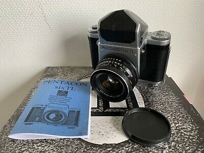 Excellent Pentacon Six TL Zeiss MC Biometar 2.8/80 prism cap manual CLA Tested