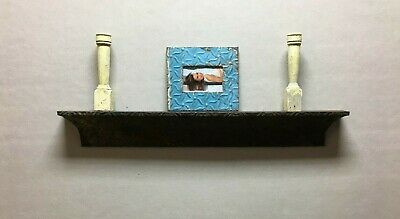 Architectural Destressed Embossed Reclaimed Tin Mantle Shelf Home Decor 325-20BE