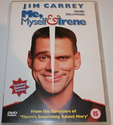 Me, Myself And Irene (DVD, 2001) Jim Carrey - Rated 15, Region 2, PAL.