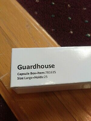 Guardhouse Single Row Coin Capsule Box - Holds 25 Large (Size H) Capsules 781635
