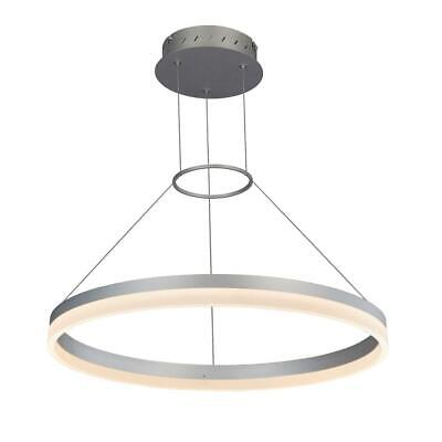 Tania Round 24 in. 36 Watt Black Integrated LED Chandelier