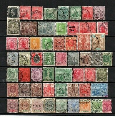 British Commonwealth Early Mixture Very Useful Lot  Unchecked