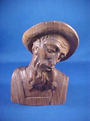 Hand Carved Man by Wood Sculptor Leonhard Holdrich Oberammergau ~ Germany