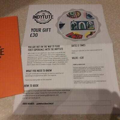 The Indytute Gift Experience voucher worth £30