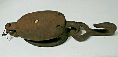 Antique Heavy Duty Nautical Maritime Bronze Rigging Pulley Sailboat Sailing (#1