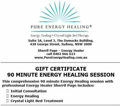 90 Minute Energy Healing + Consultation + Crystal Light Bed GIFT CERTIFICATE