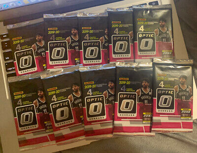 10 Pack Lot 2019-20 Donruss Optic Retail Mega Box Packs Basketball 4 Cards Per