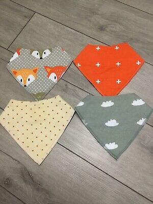 Set Of 4 Cloud Island Gender Neutral Bibs