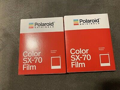 Polaroid SX 70 color film polaroid SX-70 Cameras 2 packs of film Lot Vintage