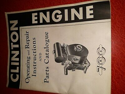 VINTAGE CLINTON ENGINE 700 series operation and service manual 27 pages