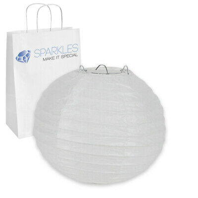 """6"""" inch Chinese Paper Lantern - White - Wedding Party Event Decoration yn"""