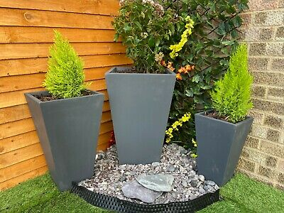 garden planters,planters,Grey planters,Tapered Square planters,outdoor