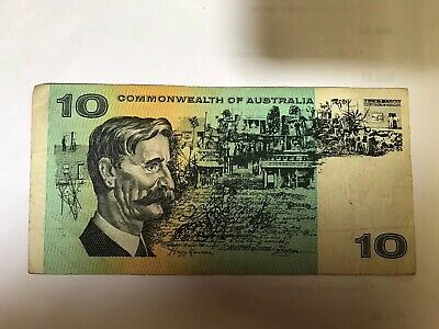 Australian Paper Bank Note $10 Ten Dollar Note X 1