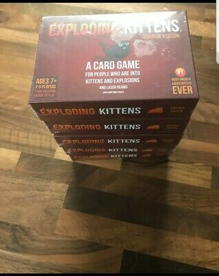 Exploding Kittens Card Game - Adults and kids-Original Edition Factory Sealed.
