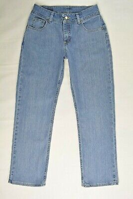 RIDERS by LEE Size 6 P PETITE Womens LIGHT Wash Stretch STRAIGHT LEG Blue Jeans