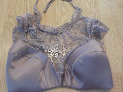 32Dd Victoria's Secret Dream Angels Purple Satin And Lace Lined Plunge Bra Nwt
