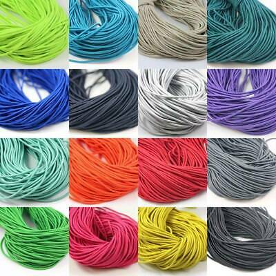 2.5mm ELASTICATED COLOURED CORD *25 COLOURS* ELASTIC CORDING FOR MAKING MASKS