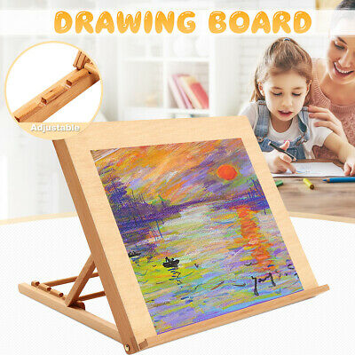 50X42CM Craft Wooden Drawing Board Easel Artist Stand Painting Table
