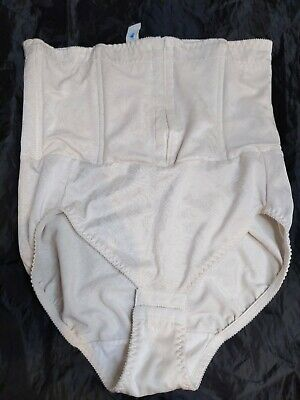 Vintage Flexees Shiny Stretchy Hi Waist Made in USA Brief Panty Panties 1X 32