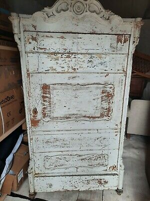 armoire wardrobe used french style white cream medium size