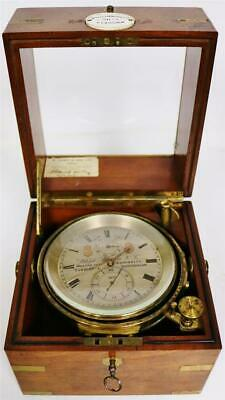 Rare Antique Whyte Thomson 2 Day Scottish Single Fusee Boxed Marine Chronometer