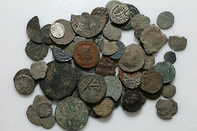 Lot Of 70 Ancient Greek Roman Byzantine & Medieval Coins-Bronze And Silver