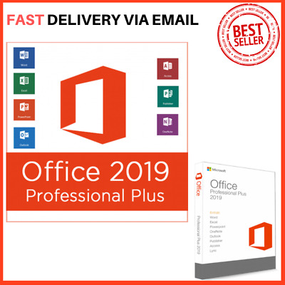 MICROSOFT OFFICE 2019 PROFESSIONAL PLUS 32/64bit + Original Key Instant Delivery