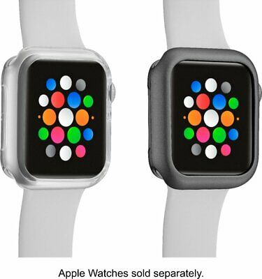 Modal™ - Bumper for Apple Watch™ 40mm (2-Pack) - Clear/Space Gray