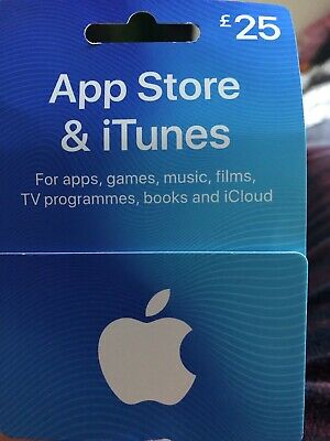 Apple Itunes £25 UK Only Gift Card Voucher App Store And Itunes