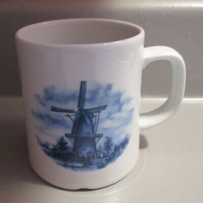Vintage Delft Blue Pottery Mug Handcrafted in Holland Ter Steege BV
