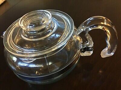 Vintage PYREX 8446 B Flameware 6 Cup Clear Glass Coffee Carafe / Teapot. MCM