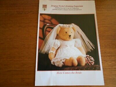 "Wedding Dress Pattern For 55Cm (22"") Teddy Bear - Leaflet - Good Condition -"