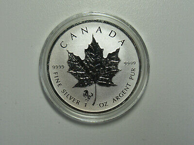 2014 CANADA 1 oz .9999 SILVER Reverse Proof $5 MAPLE LEAF with HORSE PRIVY MARK