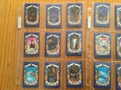 HARRY POTTER PURPLE BACK CHOCOLATE COLLECTOR CARDS COMPLETE SET Issued YEAR 2001