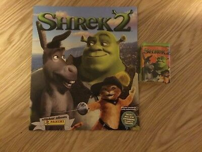 SHREK 2 STICKER ALBUM COMPLETE WITH ALL STICKERS (Not Inserted) By PANINI