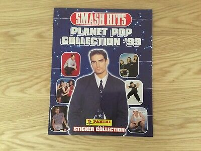 SMASH HITS POP '99 STICKER ALBUM COMPLETE WITH ALL STICKERS (Inserted) By PANINI