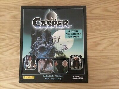 CASPER THE MOVIE STICKER ALBUM COMPLETE WITH ALL STICKERS (Inserted) By PANINI