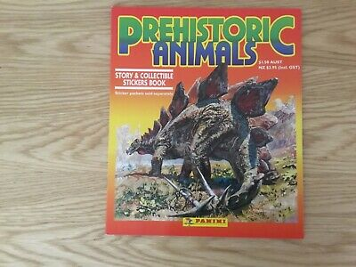 PREHISTORIC ANIMAL STICKER ALBUM COMPLETE WITH ALL STICKERS (Inserted) By PANINI