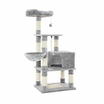"""FEANDREA 58"""" Multi-Level Cat Tree with Sisal-Covered Scratcher, Scratching Po..."""