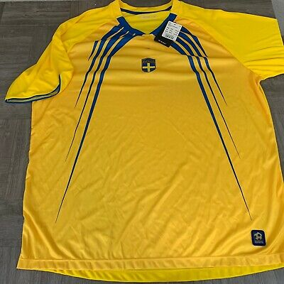 BRAND NEW! U Nation Tee SS10 Size XL Soccer Sverige Yellow Blue Official Support